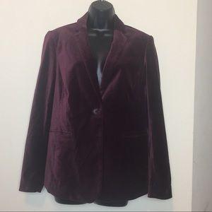 Boden Burgundy Velvet Blazer 10